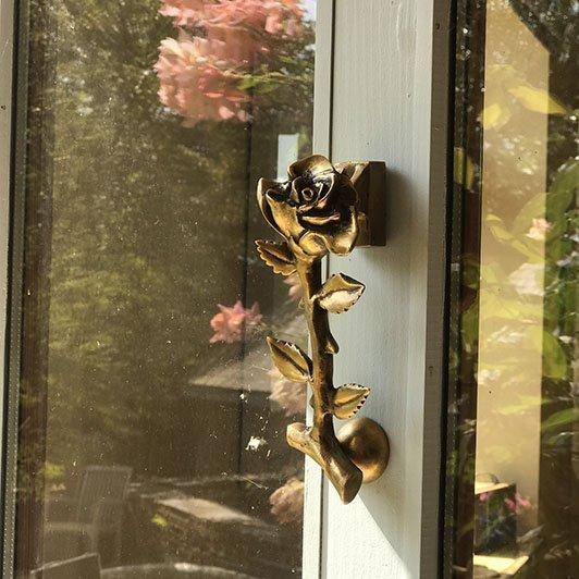 brass rose door knocker