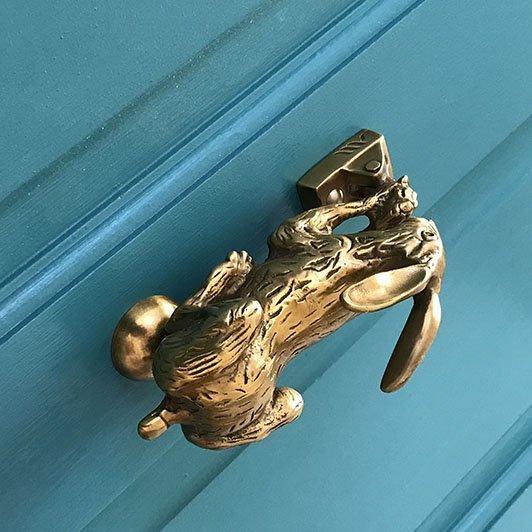 brass hare door knocker