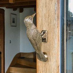 woodpecker on door